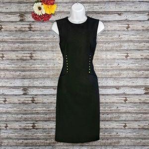 Calvin Klein | Gold Studded Black Sheath Dress | 2